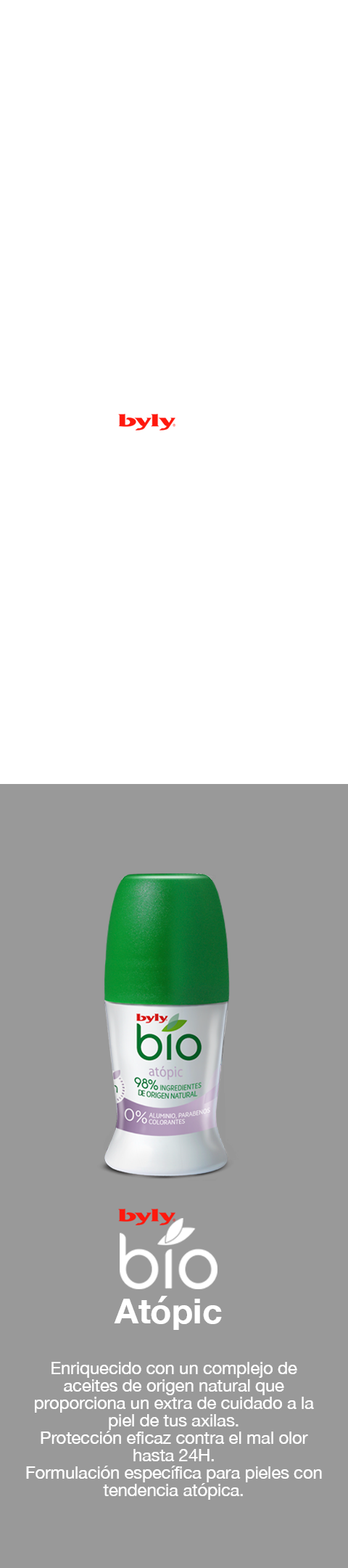 Desodorante bio natural piel atópica
