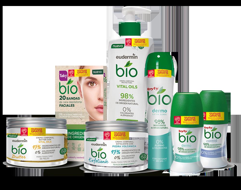 Productos cosméticos naturales Bio
